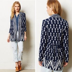 Anthropologie Martingale Ikat Cardigan